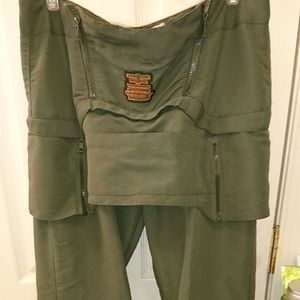 Geek Boutique Green Skirt Wide Leg Pants Raver 90s